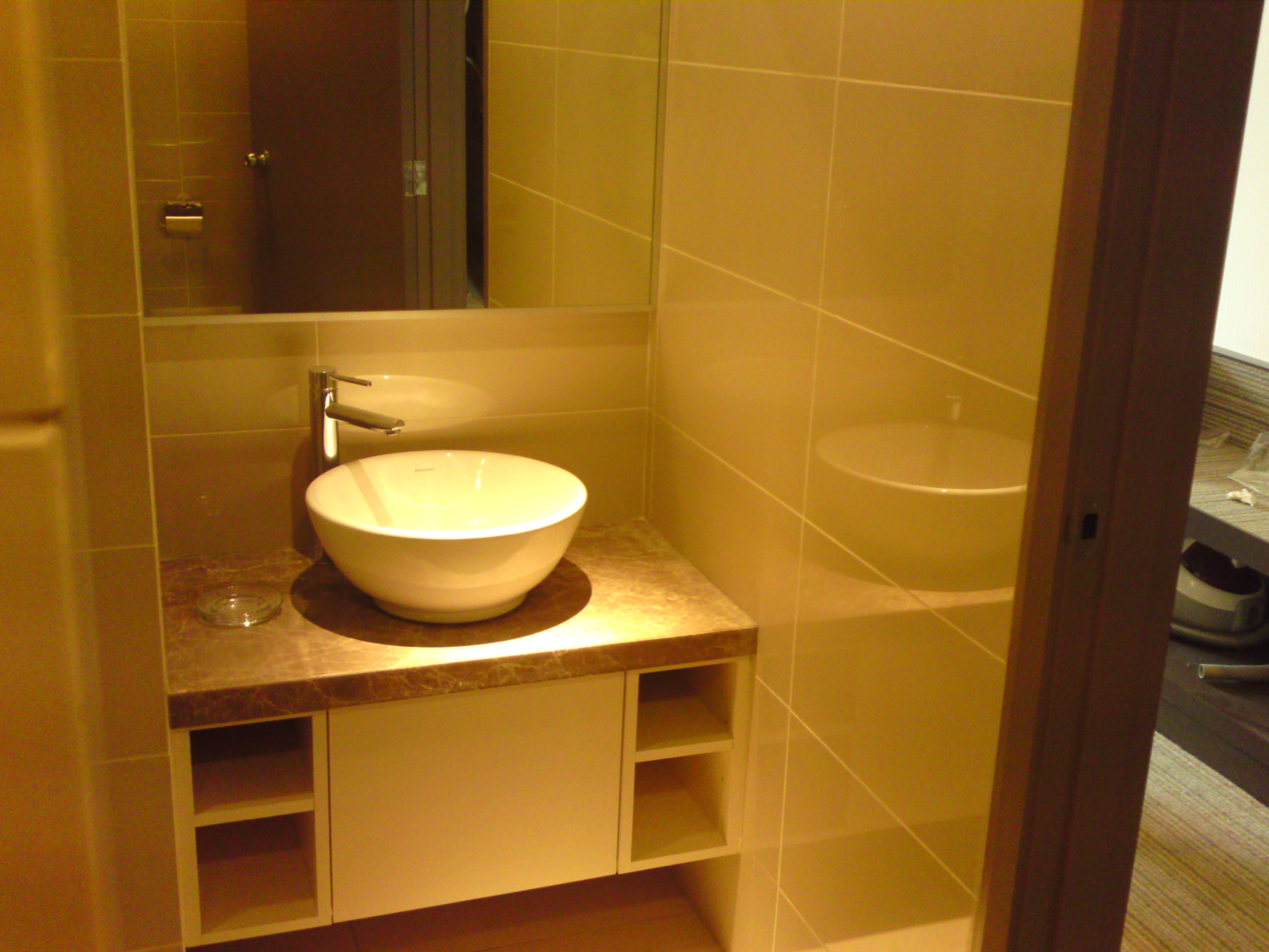 this is the bathroom for the hotel that we have done in klang solid