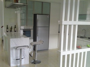 Kitchen Cabinet with Bar Counter |