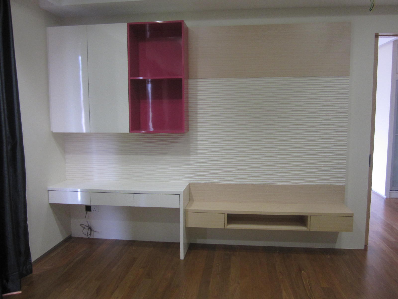 Built In Cabinets With Feature Wall