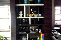 Built In Wooden Display Cabinet