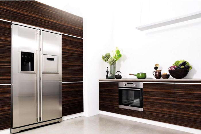 Wood Grain Design Kitchen